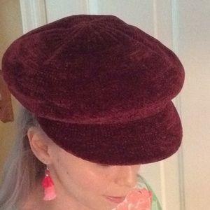 BP Woman's Chenille Baker-Boy Cap/Hat NWT